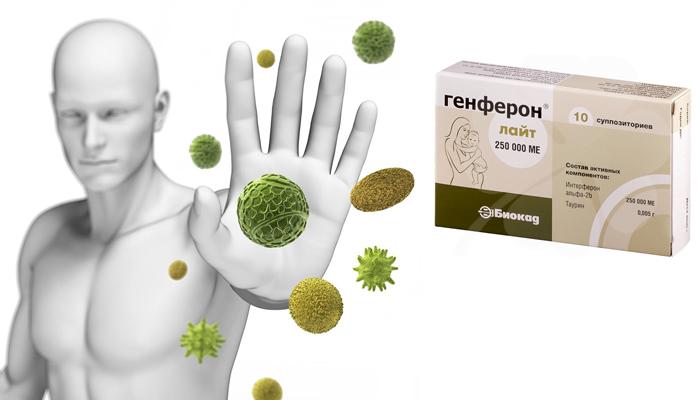 Усиление иммунных защитных свойств препаратом Генферон
