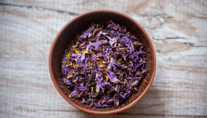 Высушенные цветки Голубого лотоса для приготовления чая или курительных смесей для кальяна