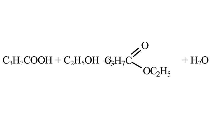 Химическая реакция пропиленгликоля с этанолом