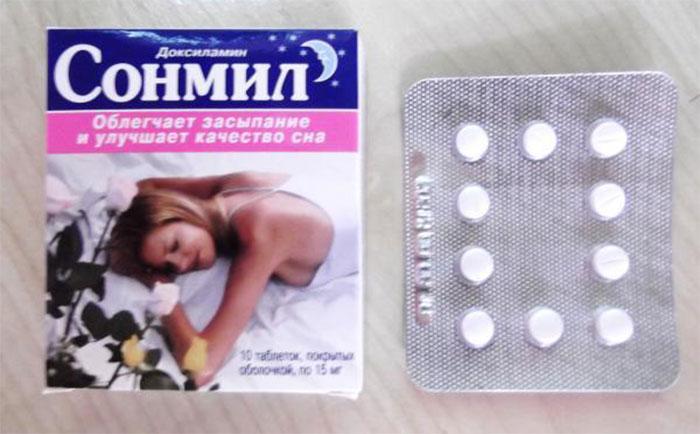 Сонмил относится к седативным препаратам, улучшающим качество сна