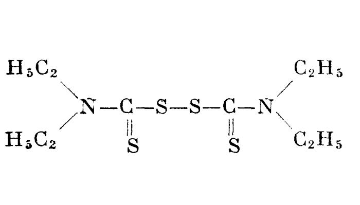 Химическая формула тетраэтилтиурамдисульфида