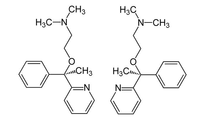 Доксиламин - структурная формула действующего вещества препарат Сонмил