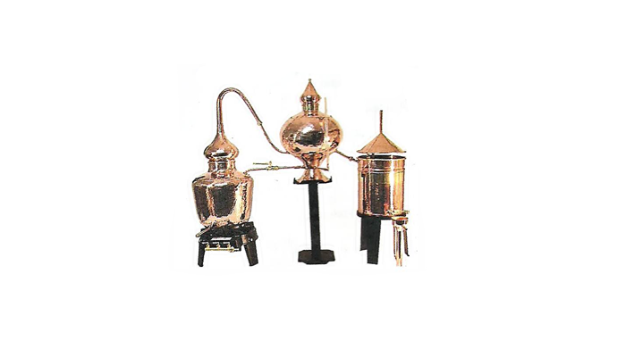 Средневековый самогонный аппарат для приготовления «Аквавиты»