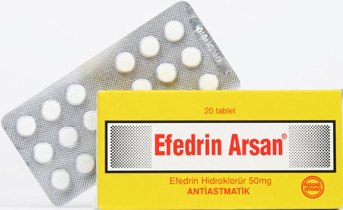 Эфедрин в таблетках