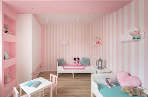 Детская комната в розовых тонах