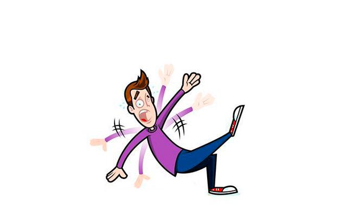 Шаткая походка у зависимого от седативных и снотворных препаратов