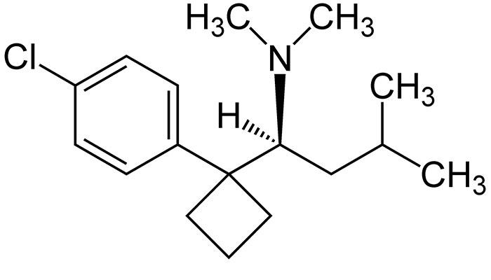 Субитрамин - структурная формула основного действующего вещества Редуксина