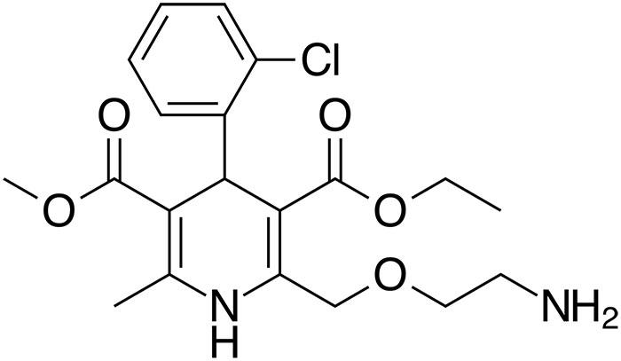 Амлодипин - структурная формула действующего вещества
