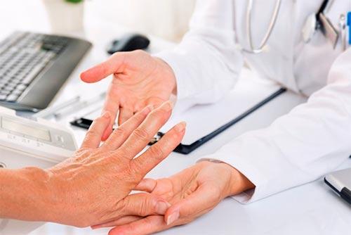 Бурсит (воспаление) суставной сумки пальцев и лучезапястного сустава кисти руки