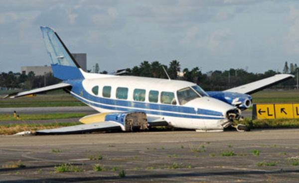 Упавший самолет