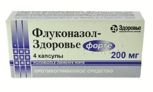 Флуконазол с дозировкой активного вещества 200 мг принимают 14 дней