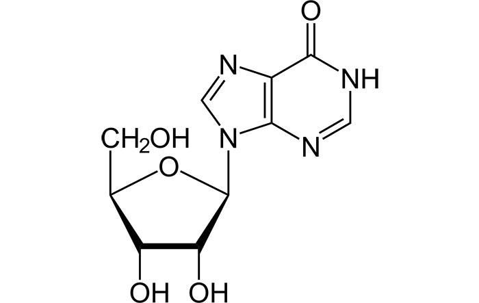 Инозин - структурная формула действующего вещества препарата Рибоксин