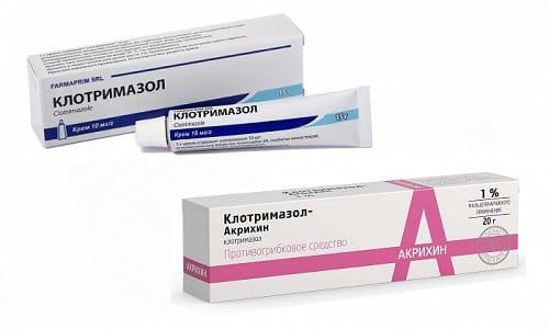 Клотримазол мазь или крем рекомендуют при грибковых поражениях кожных покровов
