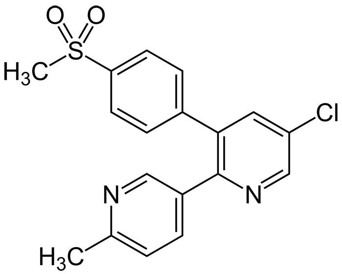Эторикоксиб - структурная формула действующего вещества