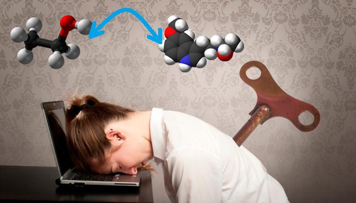 Состояние вялости в следствии замены мелатонина на этанол при смешивании Мелаксена с алкоголем
