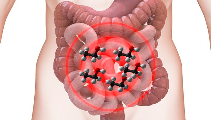 Раздражение слизистой ЖКТ молекулами этанола