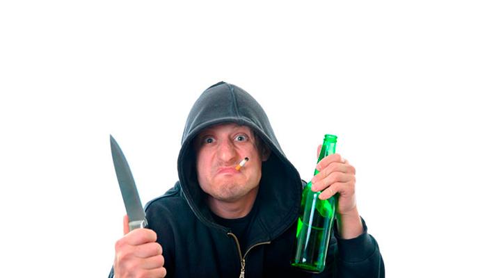 Агрессия при патологической форме опьянения
