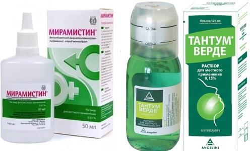В лечении заболеваний ротоглотки и носоглотки применяются противовоспалительные, обезболивающие средства - Мирамистина и Тантум Верде