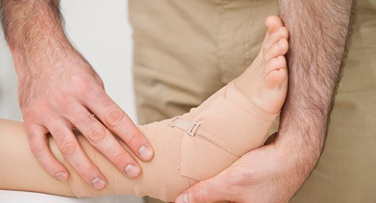 Лечение суставов голеностопа и рук