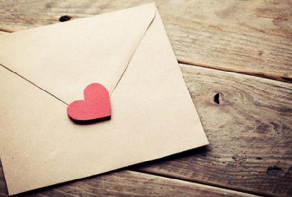 Письмо с печатью в виде сердца