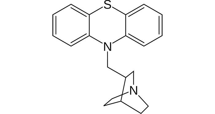 Мебгидролин -структурная формула действующего вещества препарата Диазолин