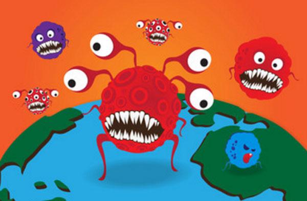 Микробы, нарисованные монстриками