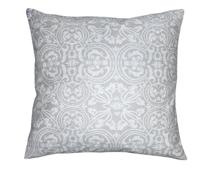 Подушка квадратная Дамаск,45х45, 1 шт Fresca Design. Цвет бежевый, темно-бежевый