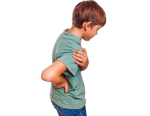 Причины боли в спине у ребенка
