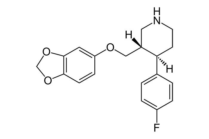 Пароксетин - структурная формула действующего вещества препарата Рексетин