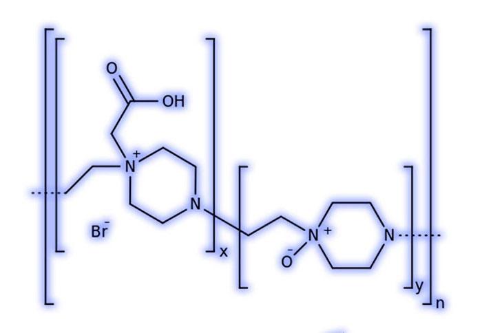 Азоксимера бромид - структурная формула действующего вещества препарата Полиоксидоний