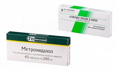 При диагностировании некоторых инфекционно-воспалительных процессов нередко Амоксициллин и Метронидазол назначают совместно