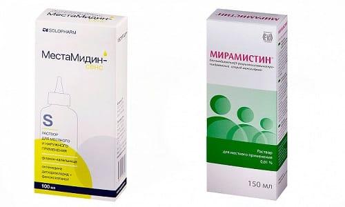 Местамидин или Мирамистин могут назначаться в комплексном лечении заболеваний бактериальной и вирусной природы