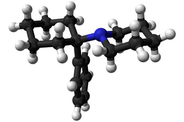 Химическая формула фенциклидина (PCP)