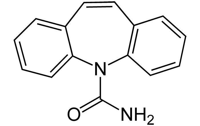 Карбамазепин - структурная формула действующего вещества препарата