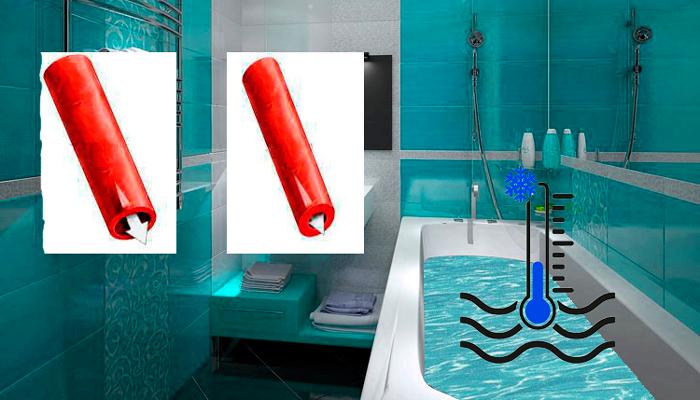 Сужение сосудов в холодной ванне