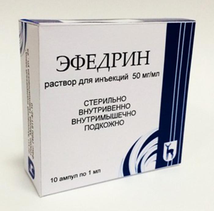 Эфедрин в растворе для инъекций