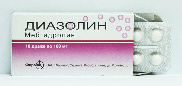 Диазолин является антигистаминным препаратом широкого спектра действия