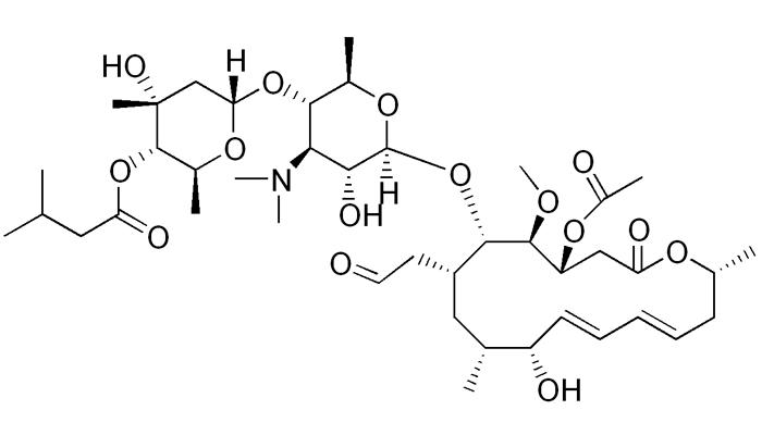Химическая формула Джозамицина действующего вещества лекарства Вильпрафен