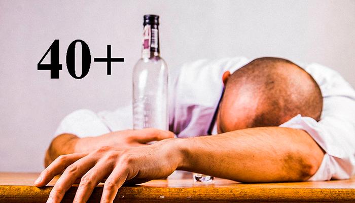 Быстрое опьянение у людей старше сорока лета