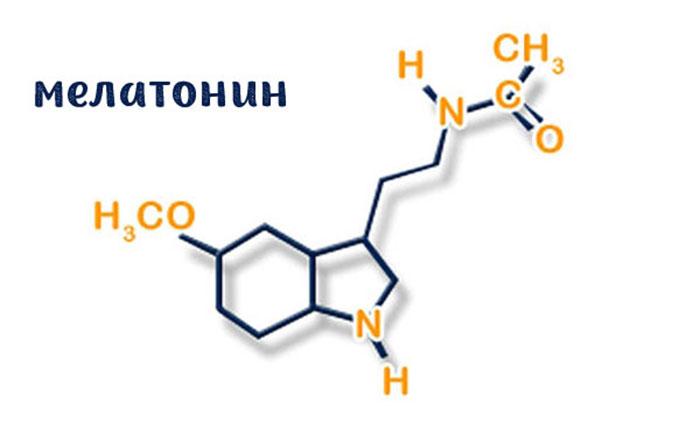 Структурная формула мелатонина