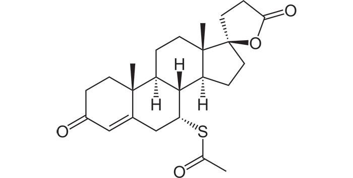 Спиронолактон - структурная формула действующего вещества препарата Верошпирон