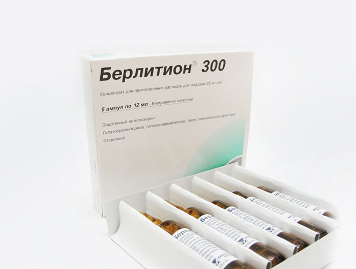 Берлитон 300 назначают при борьбе с диабетической полинейропатией